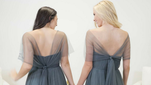 How To Tie The Rosalie Convertible Tulle Dress: Shoulder Coverage