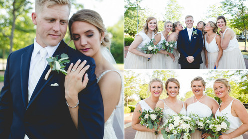 Champagne Tulle And Gorgeous Greenery Come Together For This Timeless Ohio Union