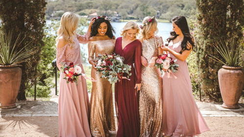 Mixing Fabrics Is The Newest Bridesmaid Style We're Absolutely Obsessed With