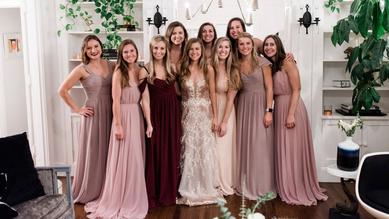 """This Wedding Dress Try-On Party Is Changing How Both Brides AND Bridesmaids Say """"I do"""""""