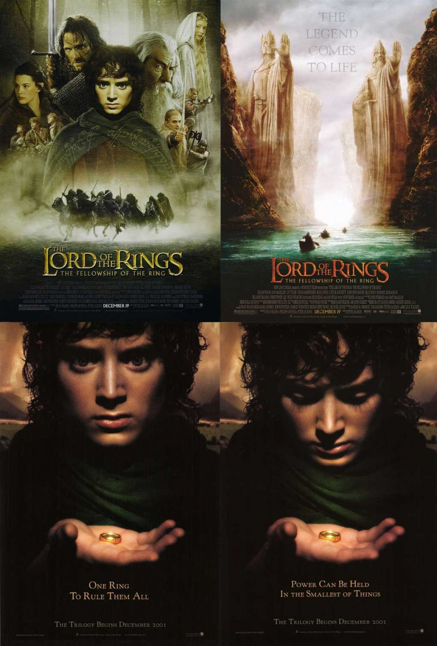 the lord of the rings fellowship of the ring poster collection set