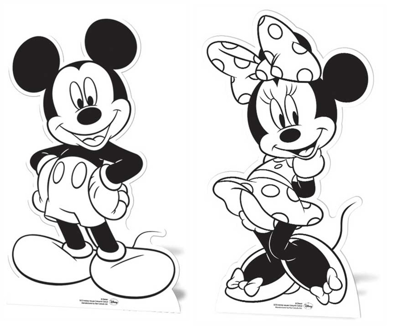 Mickey Mouse Minnie Colour And Keep Cardboard Cutouts