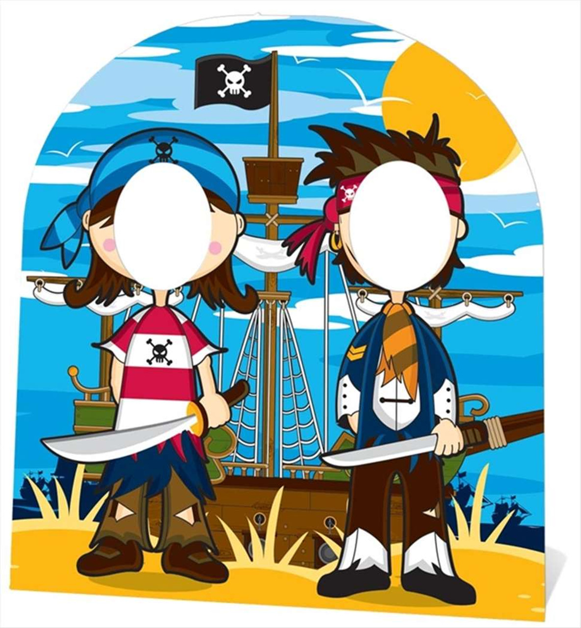Pirate Stand In Child Size Cardboard Cutout Buy Child