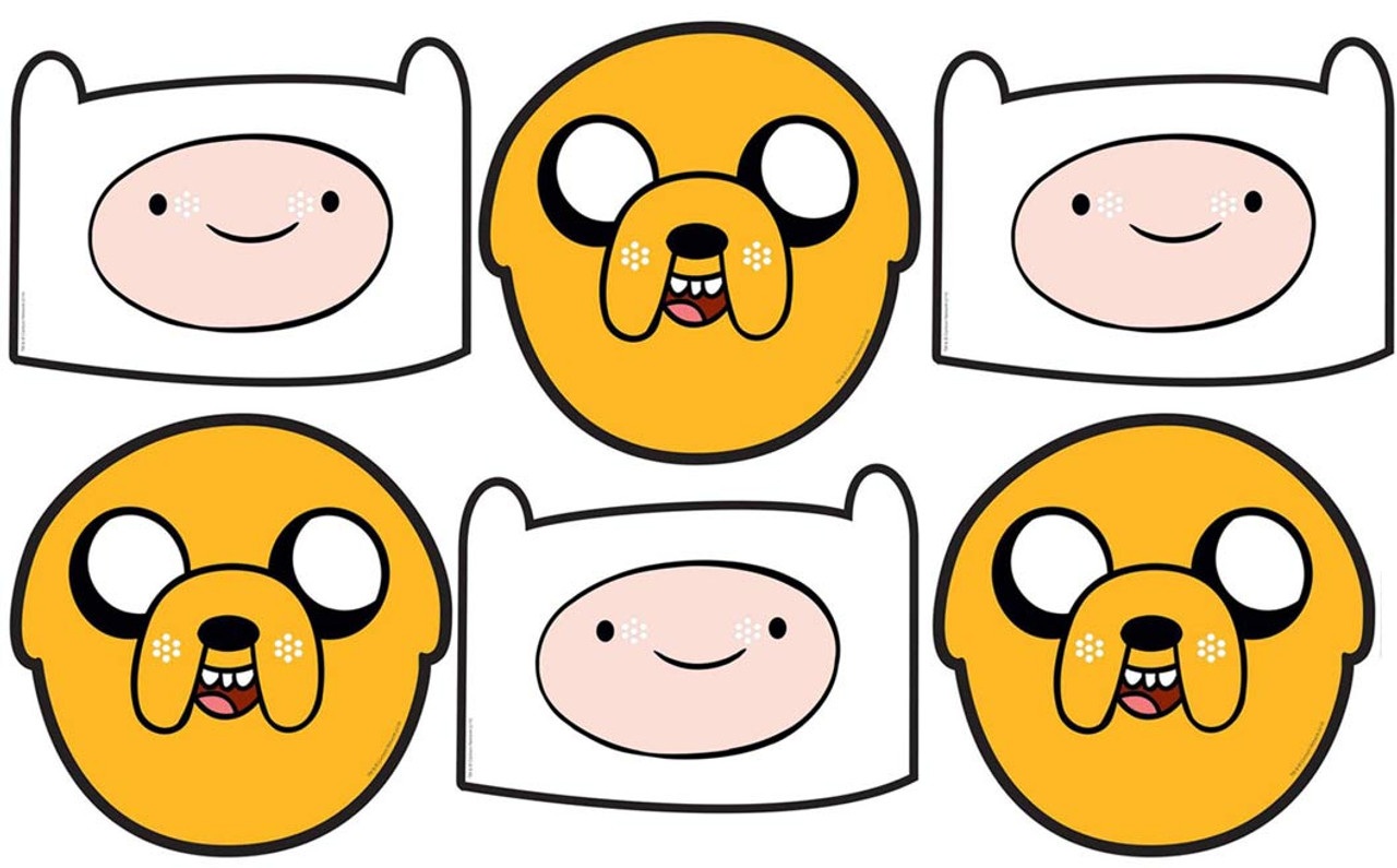 jake and finn adventure time party face mask value pack of 6