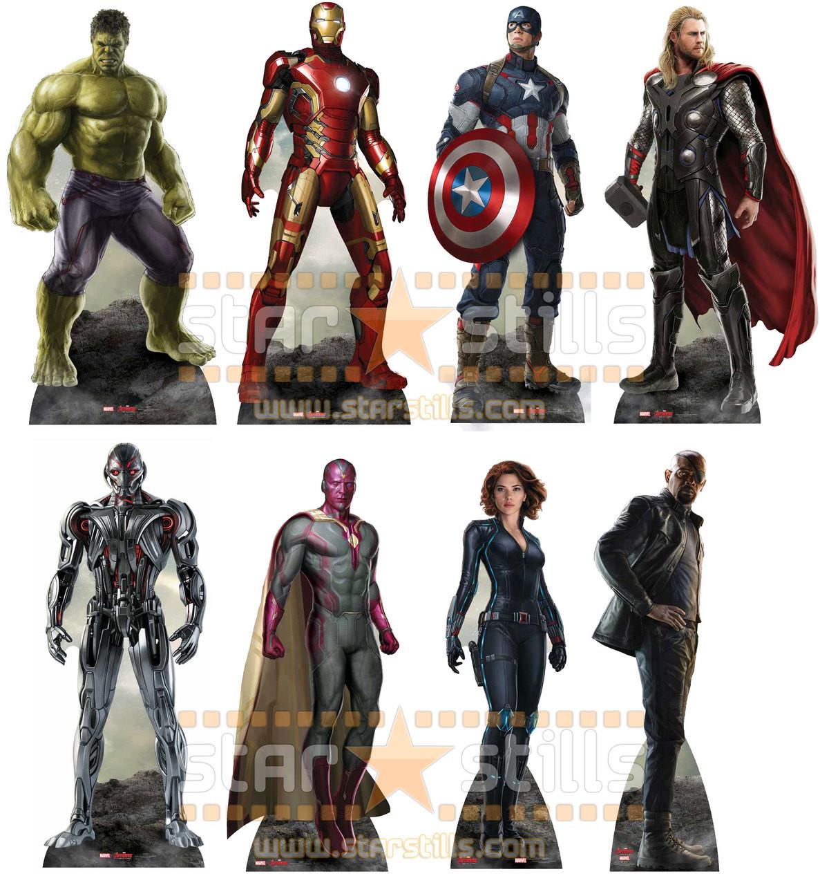 Avengers Age of Ultron Marvel Set of 8 Lifesize Cardboard Cutouts ...