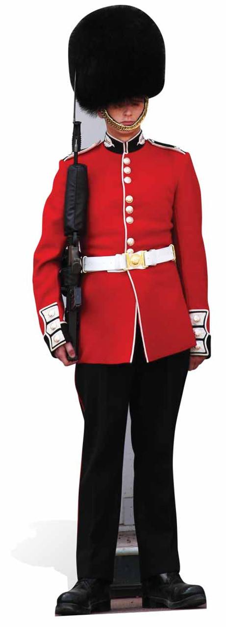 Light hair british royal guard uniform