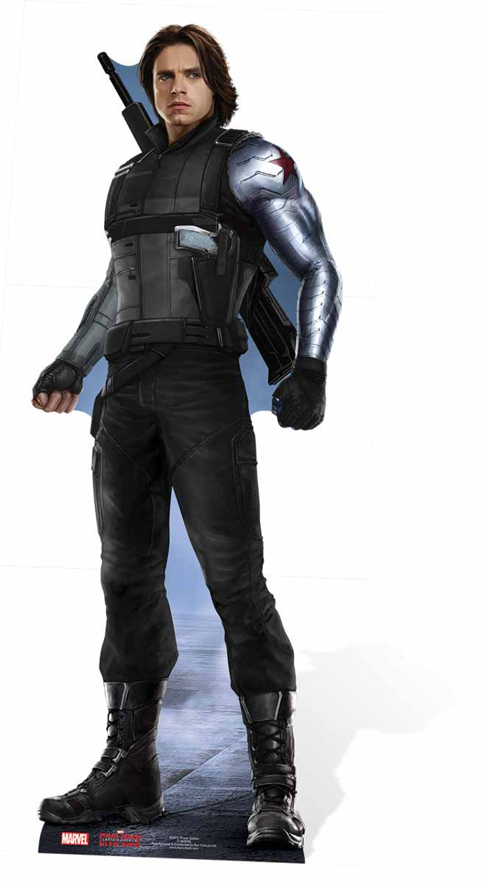 The Winter Soldier Bucky Barnes Marvel Lifesize Cardboard