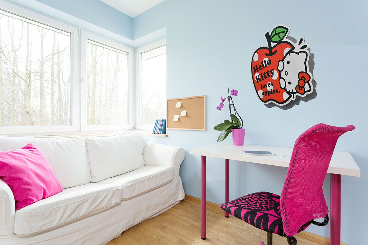 ... Hello Kitty Wall Art mounted ex&le ... & Hello Kitty 3D Effect Official Cardboard Cutout Wall Art