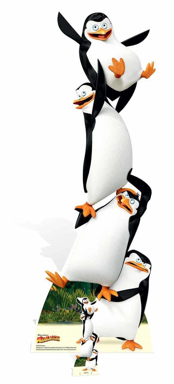 Madagasacar Penguins Cardboard Cutout