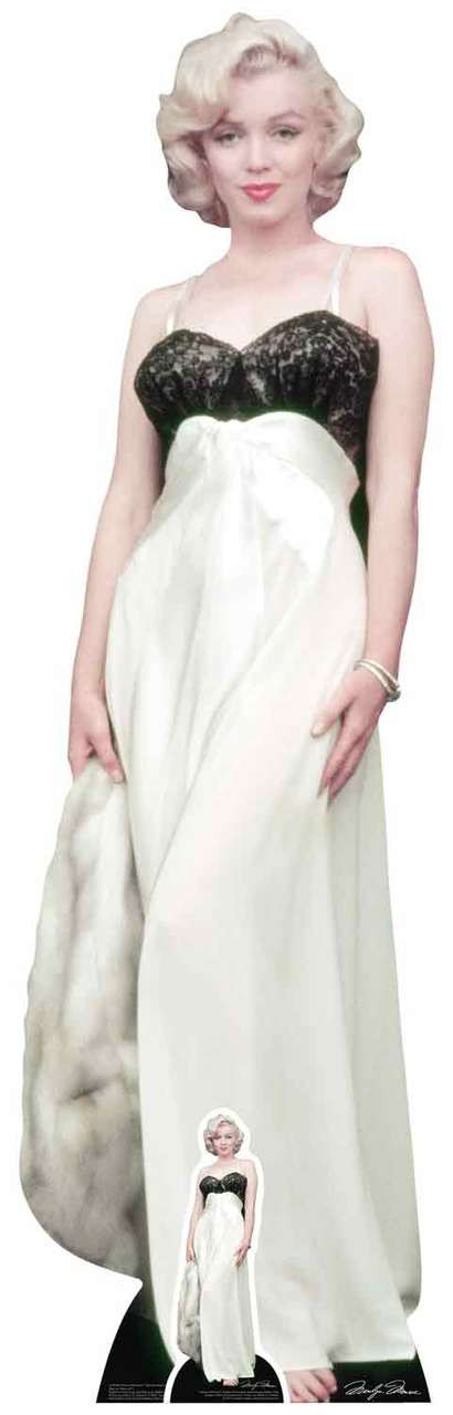 Marilyn Monroe White Gown and Fur Lifesize Cardboard Cutout ...