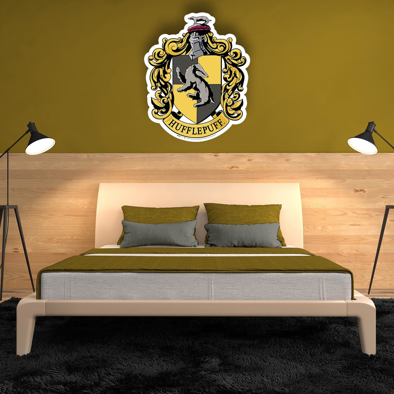 Hufflepuff Crest from Harry Potter Wall Mounted Official Cardboard ...