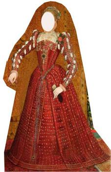 Tudor Woman Stand in - Lifesize Cardboard Cutout / Standee