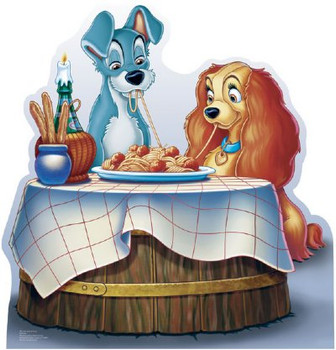 Lady and the Tramp (Disney) - Lifesize Cardboard Cutout / Standee