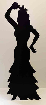 Flamenco Dancer (Silhouette) (Party Prop) - Lifesize Cardboard Cutout / Standee