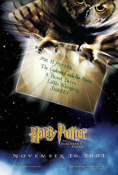 HARRY POTTER AND THE SORCERER'S STONE (Advance DOUBLE SIDED) (2001) ORIGINAL CINEMA POSTER