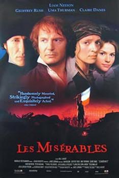 LES MISERABLES (Video) (1998) ORIGINAL CINEMA POSTER