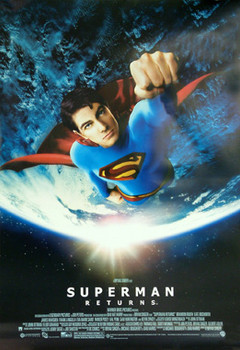 SUPERMAN RETURNS (Flying Earth Reprint) REPRINT POSTER
