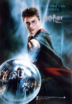 HARRY POTTER AND THE ORDER OF THE PHOENIX (Harry Wand Reprint) REPRINT POSTER