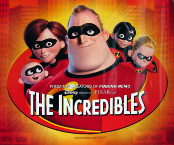 THE INCREDIBLES (Single Sided Glossy Mini Poster) ORIGINAL CINEMA POSTER