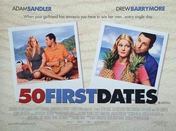 50 FIRST DATES ORIGINAL CINEMA POSTER