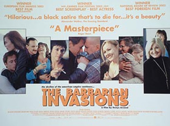 THE BARBARIAN INVASIONS ORIGINAL CINEMA POSTER