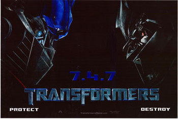TRANSFORMERS (Single Sided) ORIGINAL CINEMA POSTER