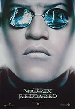 THE MATRIX RELOADED (Advance Reprint Morpheus Head) REPRINT POSTER
