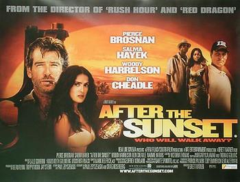 AFTER THE SUNSET ORIGINAL CINEMA POSTER
