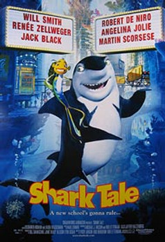 SHARK TALE (Double Sided Regular) ORIGINAL CINEMA POSTER