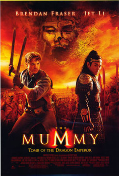 THE MUMMY TOMB OF THE DRAGON EMPEROR ORIGINAL CINEMA POSTER