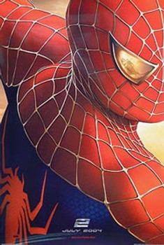 SPIDERMAN 2 (Double Sided Advance Reprint) (UV COATED/HIGH GLOSS) REPRINT POSTER