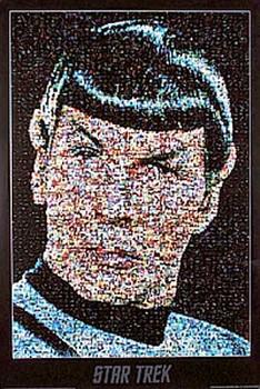 STAR TREK (Spock Mosaic Reprint) REPRINT POSTER