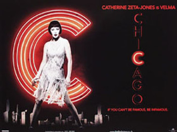 Chicago (Double Sided) (Catherine Zeta Jones) ORIGINAL CINEMA POSTER