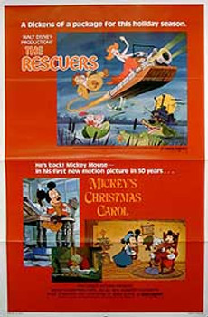 THE RESCUERS - MICKEY'S CHRISTMAS CAROL (Single Sided) ORIGINAL CINEMA POSTER