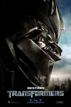 TRANSFORMERS (Double Sided Advance Destroy) ORIGINAL CINEMA POSTER