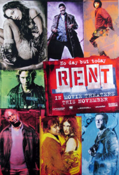 RENT (SINGLE SIDED ADVANCE) (UV COATED/HIGH GLOSS) ORIGINAL CINEMA POSTER