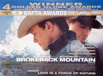 BROKEBACK MOUNTAIN ORIGINAL CINEMA POSTER