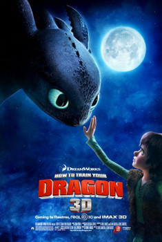 HOW TO TRAIN YOUR DRAGON Poster - (Gerard Butler) - double sided REGULAR US ONE SHEET (2010) ORIGINAL CINEMA POSTER