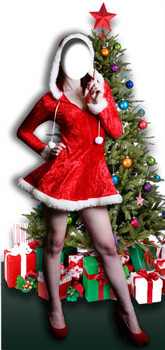 Mrs Christmas Stand-in - Lifesize Cardboard Cutout / Standee