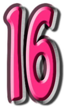 Number 16 - Lifesize Cardboard Cutout / Standee