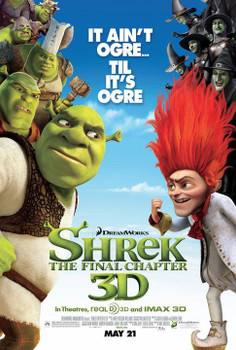 SHREK FOREVER AFTER Poster - Shrek 4 (Mike Myers, Cameron Diaz, Eddie Murphy) double sided REGULAR US ONE SHEET (2010) ORIGINAL CINEMA POSTER
