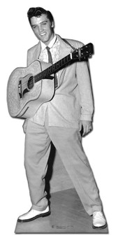 Elvis with Guitar Hanging Around Neck cardboard cutout