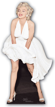 Marilyn Monroe Classic White Dress Blowing Up cardboard cutout