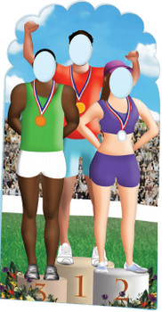 Olympics Podium Stand-in Cutout