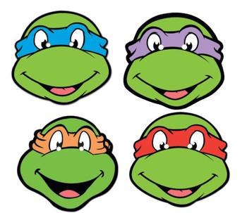 Teenage Mutant Ninja Turtles Face Mask Set of 4