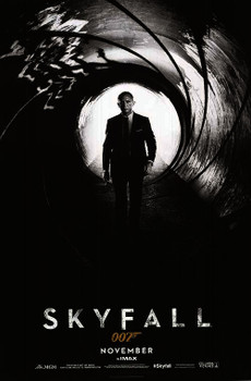 SKYFALL Poster double sided ADVANCE (2012) ORIGINAL CINEMA POSTER