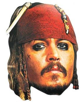 Captain Jack Sparrow Face Mask (Johnny Depp)