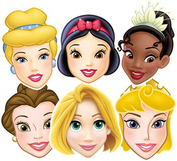Disney Princess Face Mask Set Of 6 (Aurora, Tiana, Belle, Snow White, Ranpunzel and Cinderella)