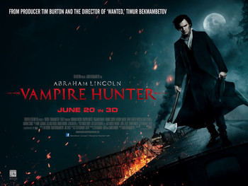 ABRAHAM LINCOLN VAMPIRE HUNTER Poster double sided STYLE B (Quad) (2012) ORIGINAL CINEMA POSTER