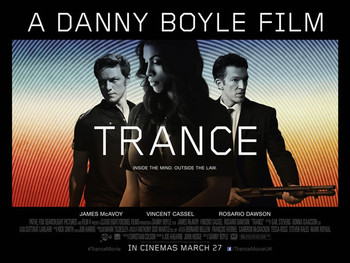 TRANCE Poster double sided (Quad) (2013) ORIGINAL CINEMA POSTER